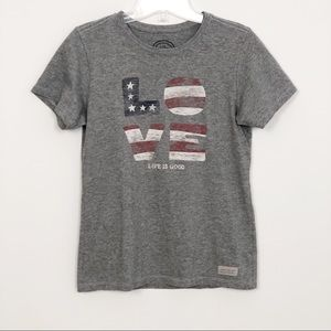 Life Is Good Graphic Tee | Red, White & Blue Love